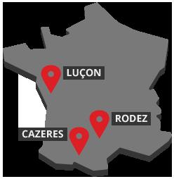 Les agences Groupe PVI en France
