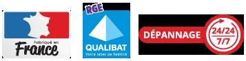 Fabriqué en France - RGE Qualibat - Dépannage 24/7
